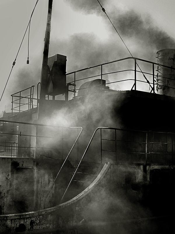 Bateau fumée