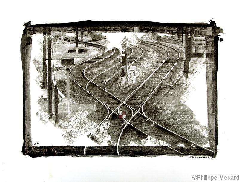 chemin de fer croisé