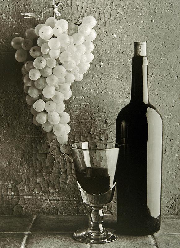 vin et grappe