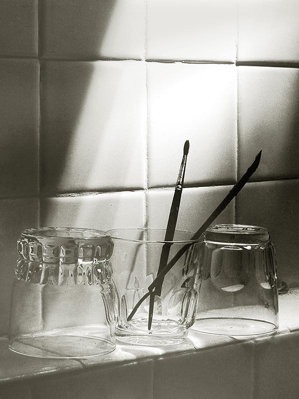 verres et pinceaux